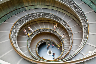 From Heaven to Earth  (Spiral stairs of the Vatican Museums)  November 9, 2011